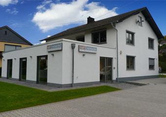 Anbau eines Ausstellungsraumes, Bad- und Heizkonzepte Ralf Reinecke, Monzingen, Kreis Bad Kreuznach, Verbandsgemeinde Bad Sobernheim